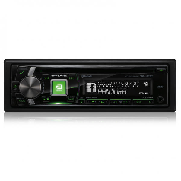 Alpine CDE-147BT CD Receiver with Bluetooth/USB/iPod and iPhone/PANDORA