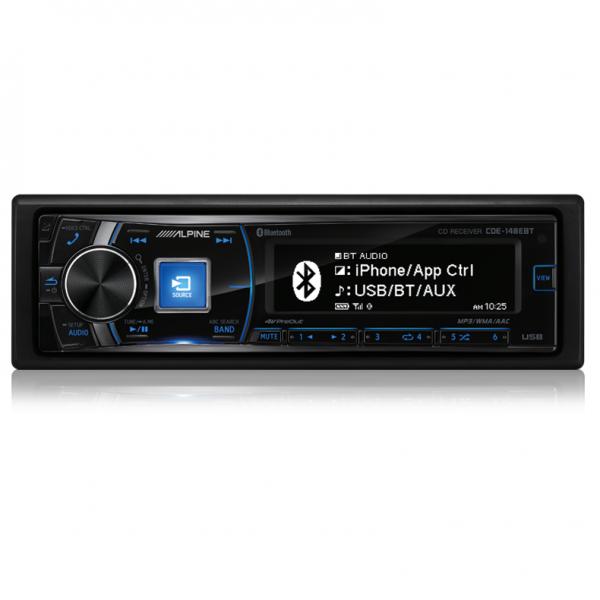 Alpine CDE-148EBT CD Receiver with Advanced Bluetooth/USB