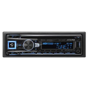 Alpine CDE-163EBT CD Receiver with Bluetooth / AUX / USB / FLAC / Pandora