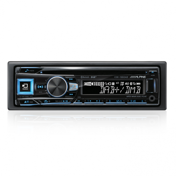 Alpine CDE-196DAB CD/DAB+ Receiver with Advanced Bluetooth / AUX / USB / FLAC
