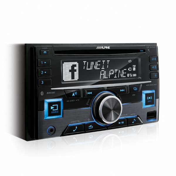 Alpine CDE-W296BT 2-DIN CD RECEIVER WITH BT / RDS / USB / IPOD / IPHONE / ADAPTIVE SWC