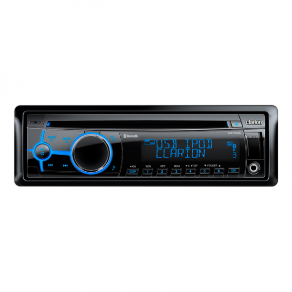 Clarion CZ703AU Bluetooth CD/USB/MP3/WMA Receiver with Advanced Sound Settings