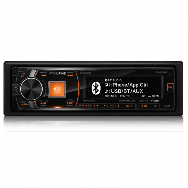 Alpine IDE-178BT Digital Media Receiver with Advanced Bluetooth/USB and iPod/iPhone/TuneIt/App Controller