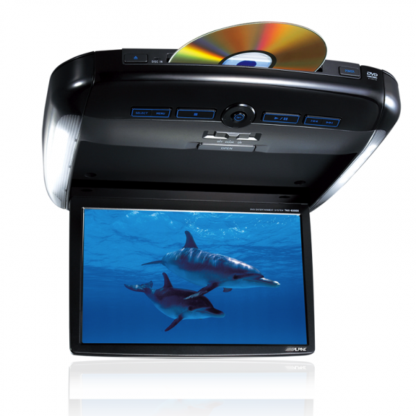"""Alpine PKG-2100P 10.2"""" WVGA Overhead Monitor with DVD and DivX Player"""