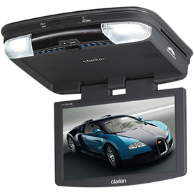"Clarion VTM1 10.2"" Wide Screen LCD Overhead Colour Monitor with DVD Player"