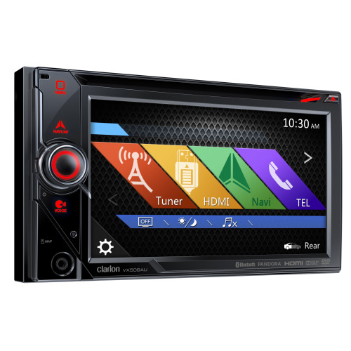 """Clarion VX506AU 2-DIN DVD Multimedia Station with Bluetooth and 6"""" Touch Panel Control"""