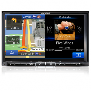 "Alpine X008AU 8"" DVD/USB/HDMI/Bluetooth Advanced Navi Station"