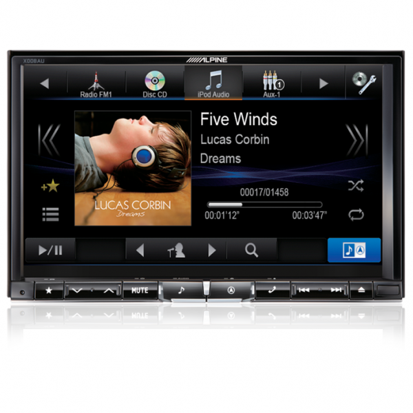 "Alpine X008AU 8"" DVD/USB/HDMI/Bluetooth Advanced Navi Station"
