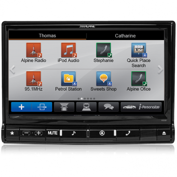 "Alpine X009E-U Universal 9"" DVD/USB/MP3/WMA/AAC/DIVX/HDMI/Bluetooth/Navigation Station"