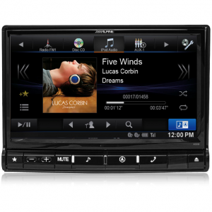 "Alpine X009E-U Universal 9"" DVD/USB/MP3/WMA/AAC/DIVX/HDMI/Bluetooth/Navigation Station"