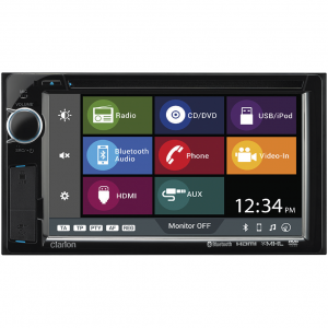"Clarion VX316AU 2-DIN DVD Multimedia Station, Smartphone Connectivity and Bluetooth with 6.2"" Touch Panel Control"