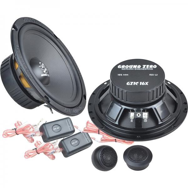 """Ground Zero GZIC 16X 6.5"""" Component Speakers"""