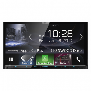 "Kenwood DMX7017BTS 7"" WVGA Clear-coated Resistive Touch Screen, Non DVD, AV Receiver."