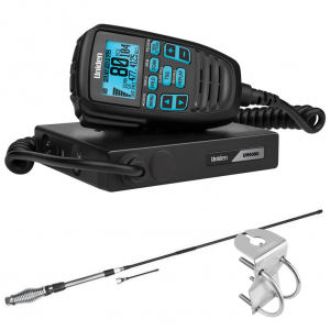 Uniden UH9080 Accessory Pack - Mini Compact UHF CB Mobile with AT880 Antenna & Mount Bracket