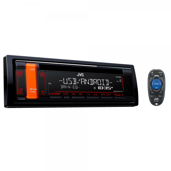 JVC KD-R486 CD Receiver with Front USB/AUX Input