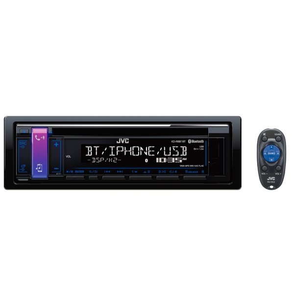 JVC KD-R881BT CD Receiver with Bluetooth(R) Wireless Technology and Front USB/AUX Input
