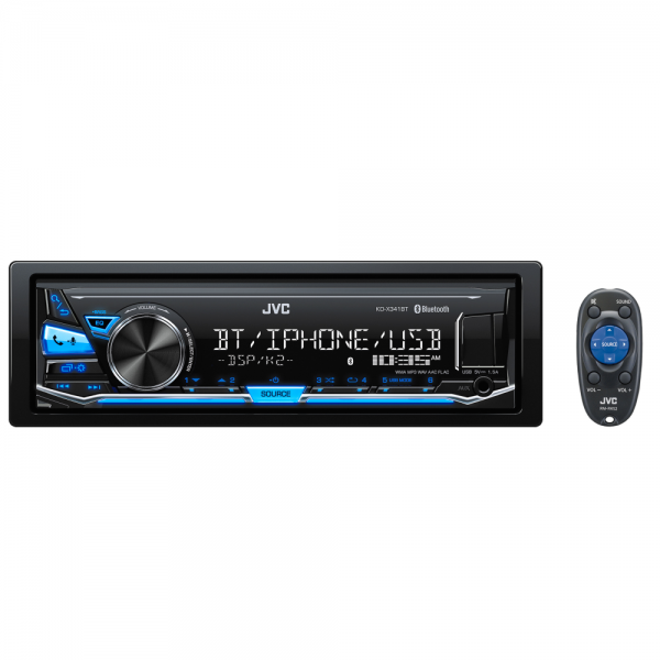 JVC KD-X341BT Digital Media Receiver with Bluetooth(R) Wireless Technology and Front USB/AUX Input