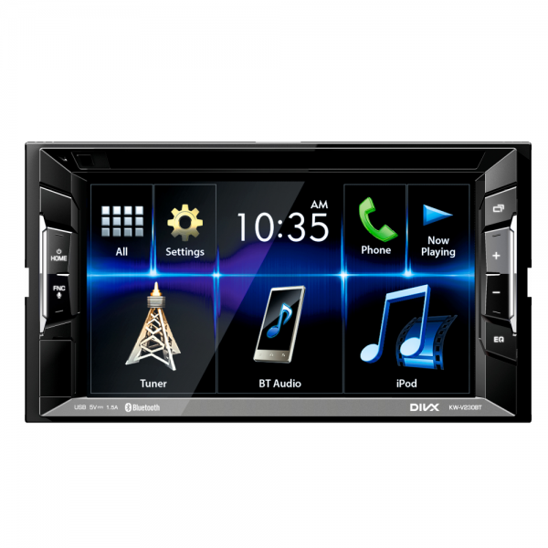 "JVC KW-V230BT DVD/CD/USB Receiver with 6.2-inch Clear Resistive Touch Control Monitor (6.2"" WVGA) and Built-In Bluetooth(R) Wireless Technology"
