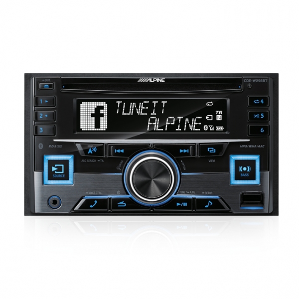CDE-W296BT 2-DIN CD RECEIVER WITH BT / RDS / USB / IPOD / IPHONE / ADAPTIVE SWC