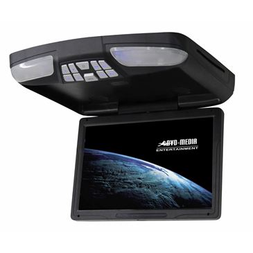"""Mongoose Q340 12.1"""" Wide Screen LCD Overhead with DVD Player"""