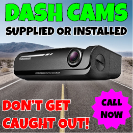Dash Cameras supplied and installed