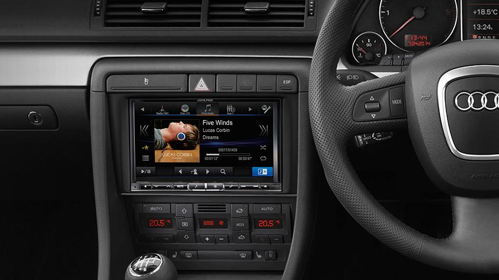 Alpine Audi A4 B7 Perfect Fit X800d U 8 Dab Dvd Usb Hdmi Bluetooth Advanced Navigation Station Monster 4 4 Car Audio