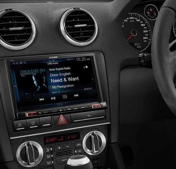 Alpine Audi A3 Perfect Fit X108d 8 Hdmi Flac Usb Bluetooth